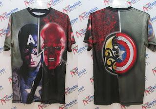 Kaos Captain America 3D
