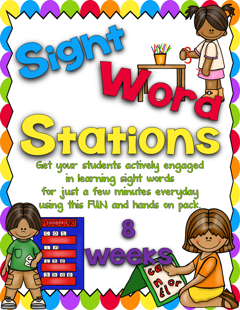 http://www.teacherspayteachers.com/Product/Sight-Word-Stations-PrePrimerBundled-1097610