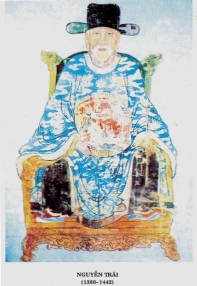 Nguyễn Trãi (1380 – 1442) hiệu Ức Trai, người Thường Tin, tỉnh Hà Tây