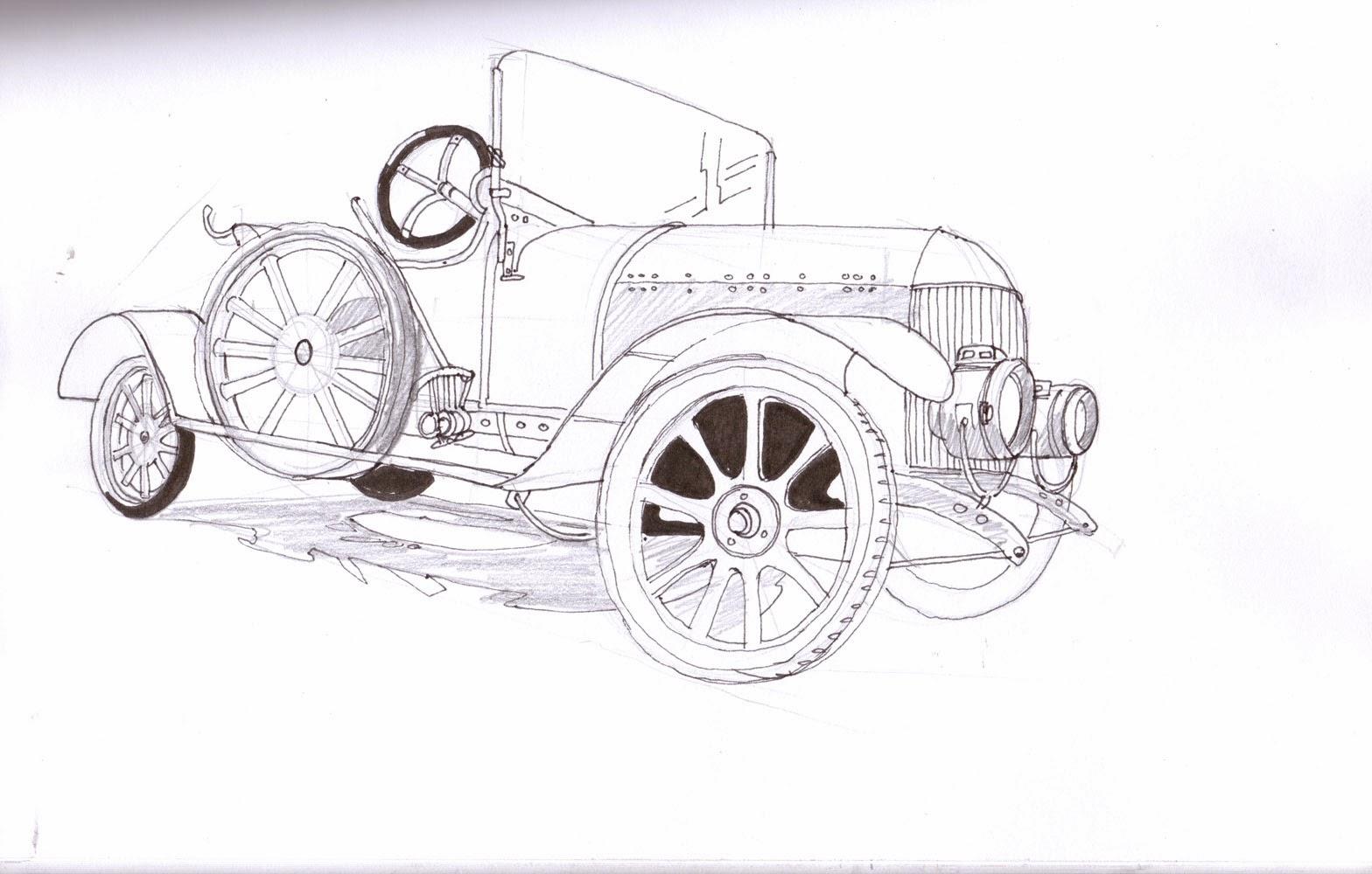 My Sketchblog: Car sketches-1913 Morris Oxford sketch and 1929 ...
