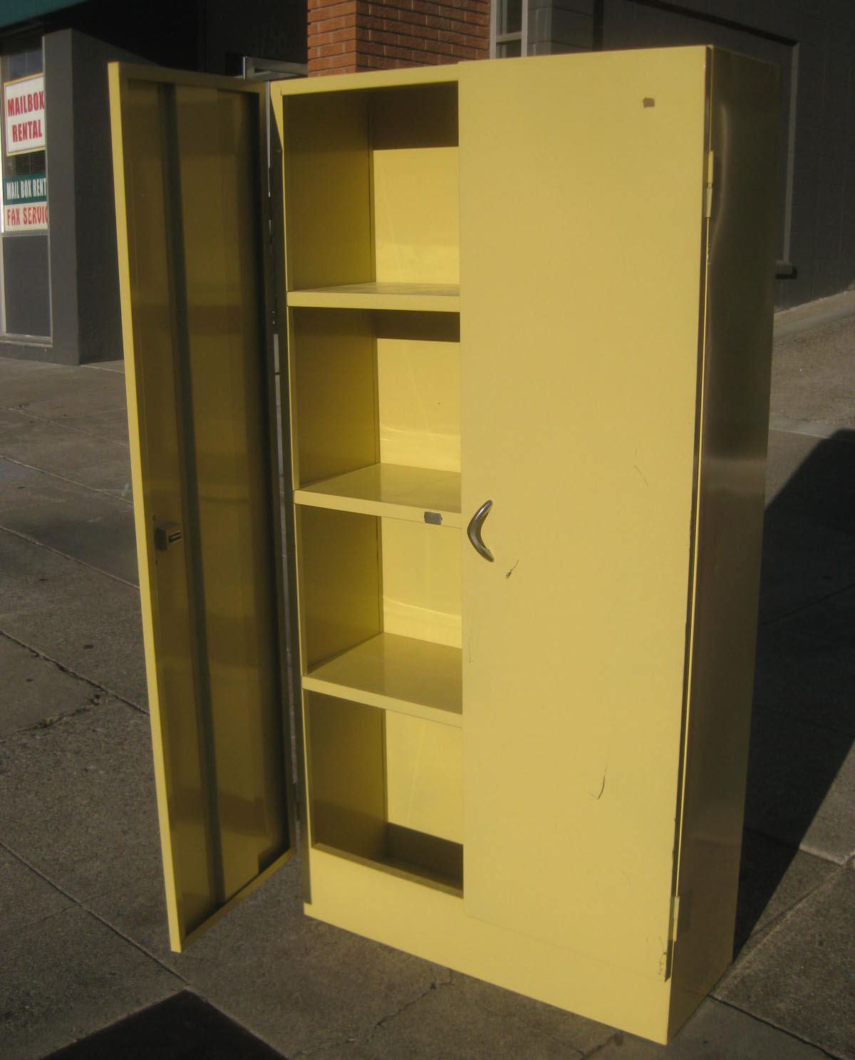 Sold Vintage Metal Storage Cabinet 50