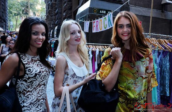Models cross section markets Angel Place Sydney