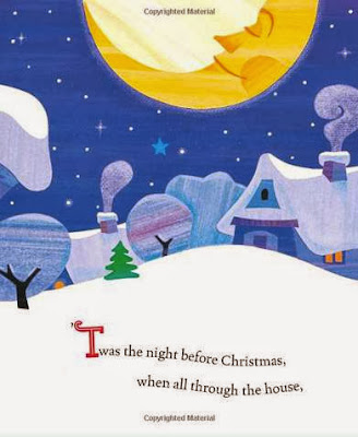 sample page #1 from THE NIGHT BEFORE CHRISTMAS by Little Golden Book