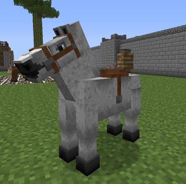 как сделать майнкрафте лошадь