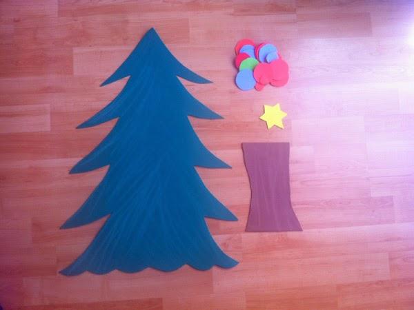 Manualidades rbol de navidad con goma eva - Como hacer un arbol de navidad de carton ...