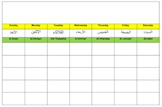 Hijri Calendar Wall Calendar Display 1