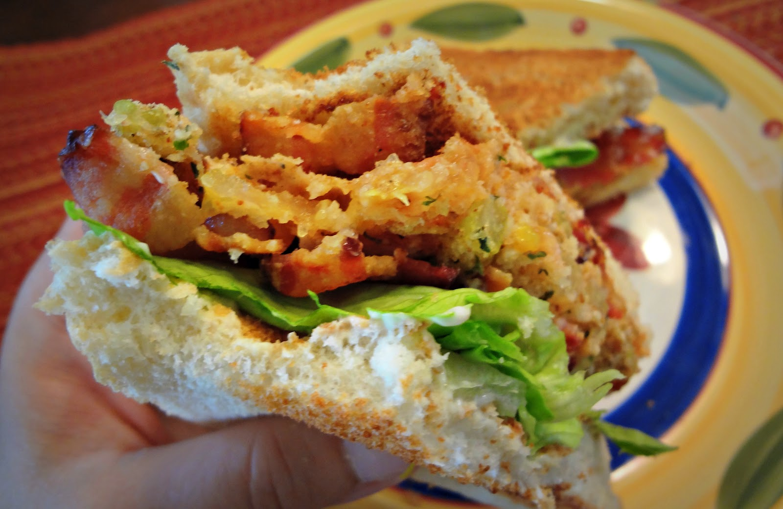 Attack of the Hungry Monster: BLT with Baked Green Tomatoes