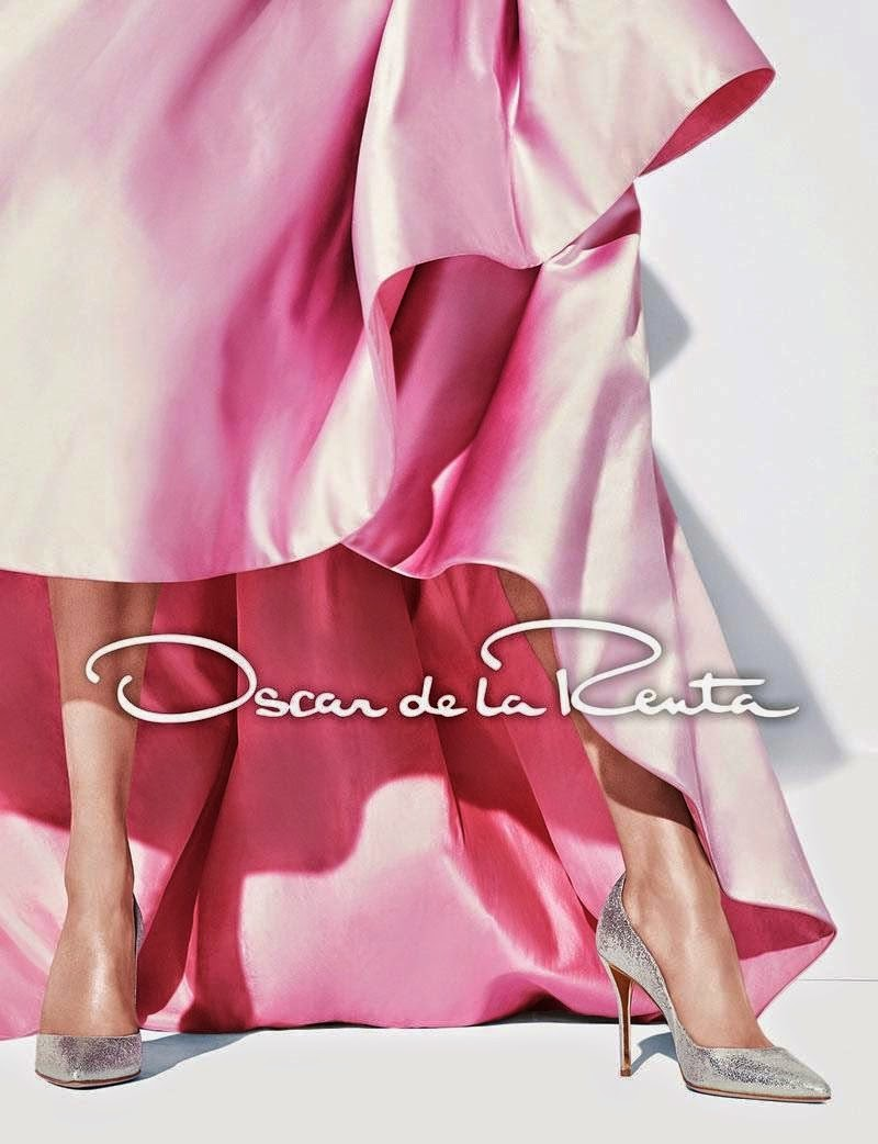 Oscar de la Renta Fall/Winter 2014 Campaign featuring Diana Moldovan and Larissa Hofmann
