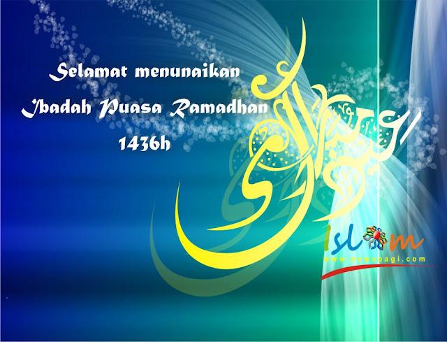 Menyambut bulan puasa Ramadhan