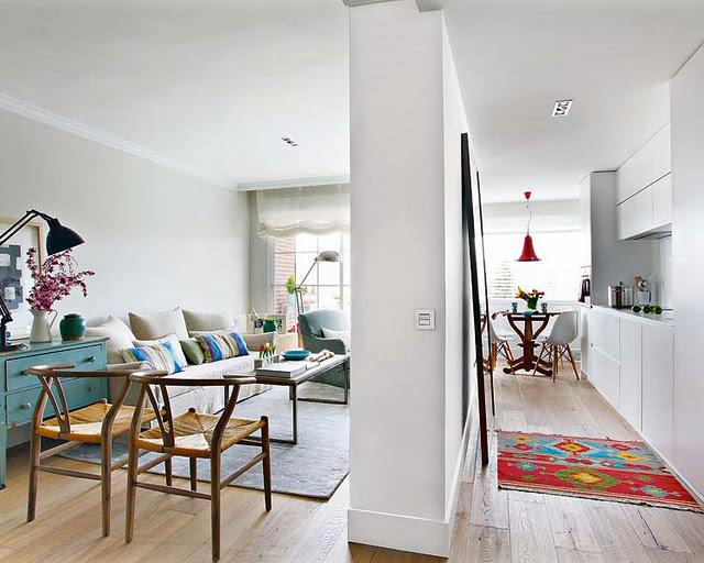 Living in designland comedor y cocina separada por muro - Cocina salon separados cristal ...