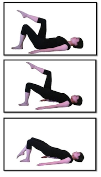 Exercise Of The Day Day 140 Bridge With Toe Taps Single