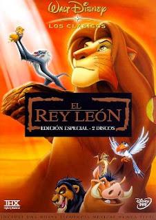 Carátula El rey leon pelicula dvdrip latino