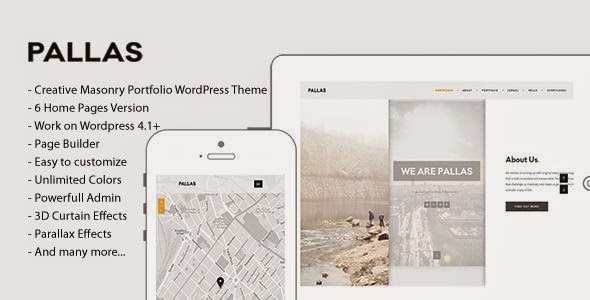 Pallas - Creative Multipurpose WordPress Theme