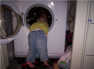 Child in the wash by lownote, on Flickr