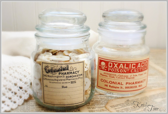 DIY Apothecary Jars with Free Printable Labels | www.knickoftime.net