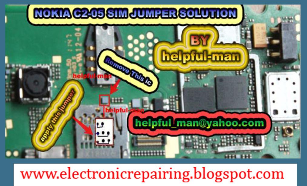 NOKIA C2-05 SIM IC JUMPER SOLUTION