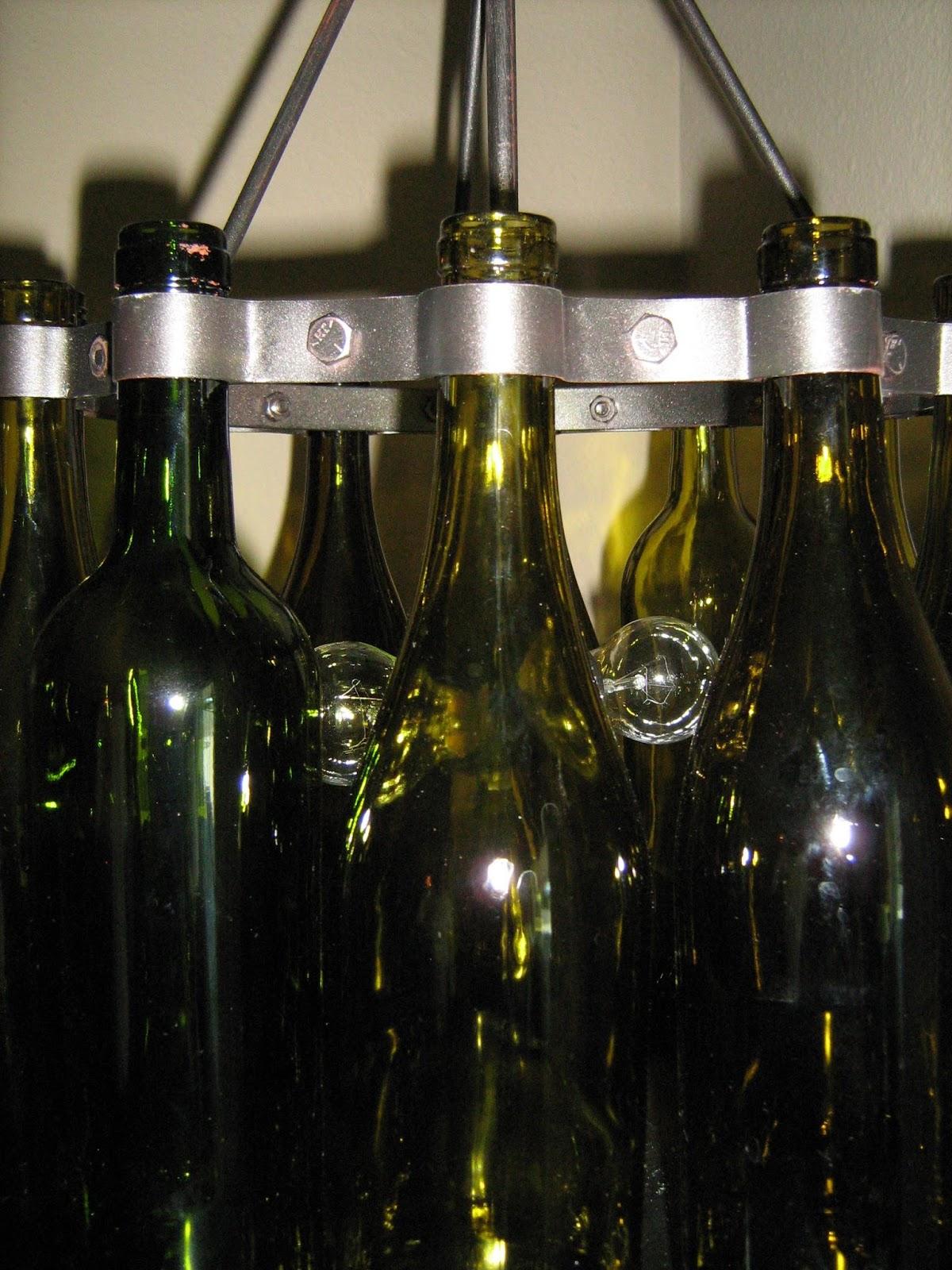 Kindred style wine bottle chandelier - Wine bottle light fixture chandelier ...