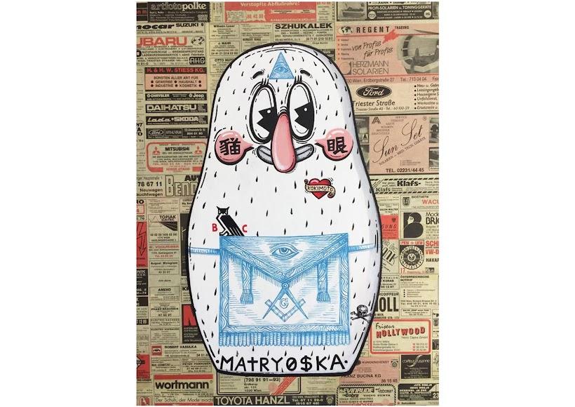Freemason MATRYO$KA, Mixed technique on canvas, 60x40 cm