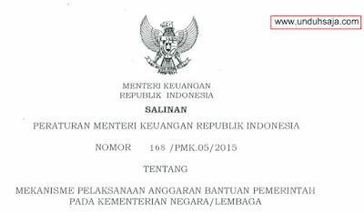PMK No 168 Tahun 2015