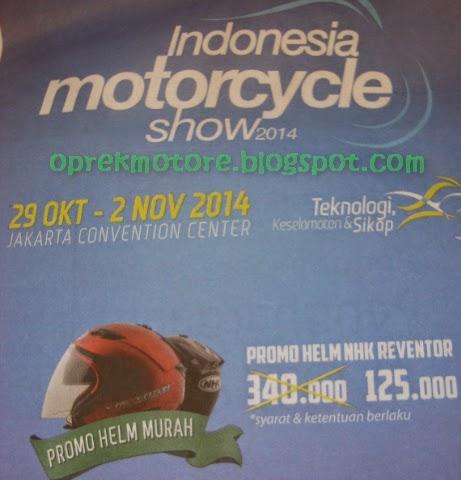 Promo Helm Murah di Indonesia Motorcycle Show 2014