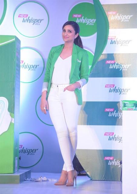 Parineeti Chopra launches the New Whisper Ultra in Mumbai