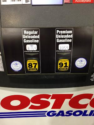 Costco gas for Mar. 6, 2015 at the Costco in Hayward, CA