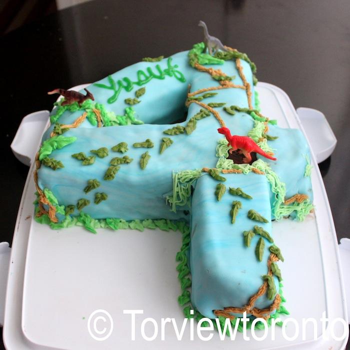 Torviewtoronto Fondant Dinosaur Park Cake