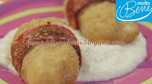 Bastoncini di merluzzo con purè di topinambur ricetta Parodi per Molto Bene su Real Time