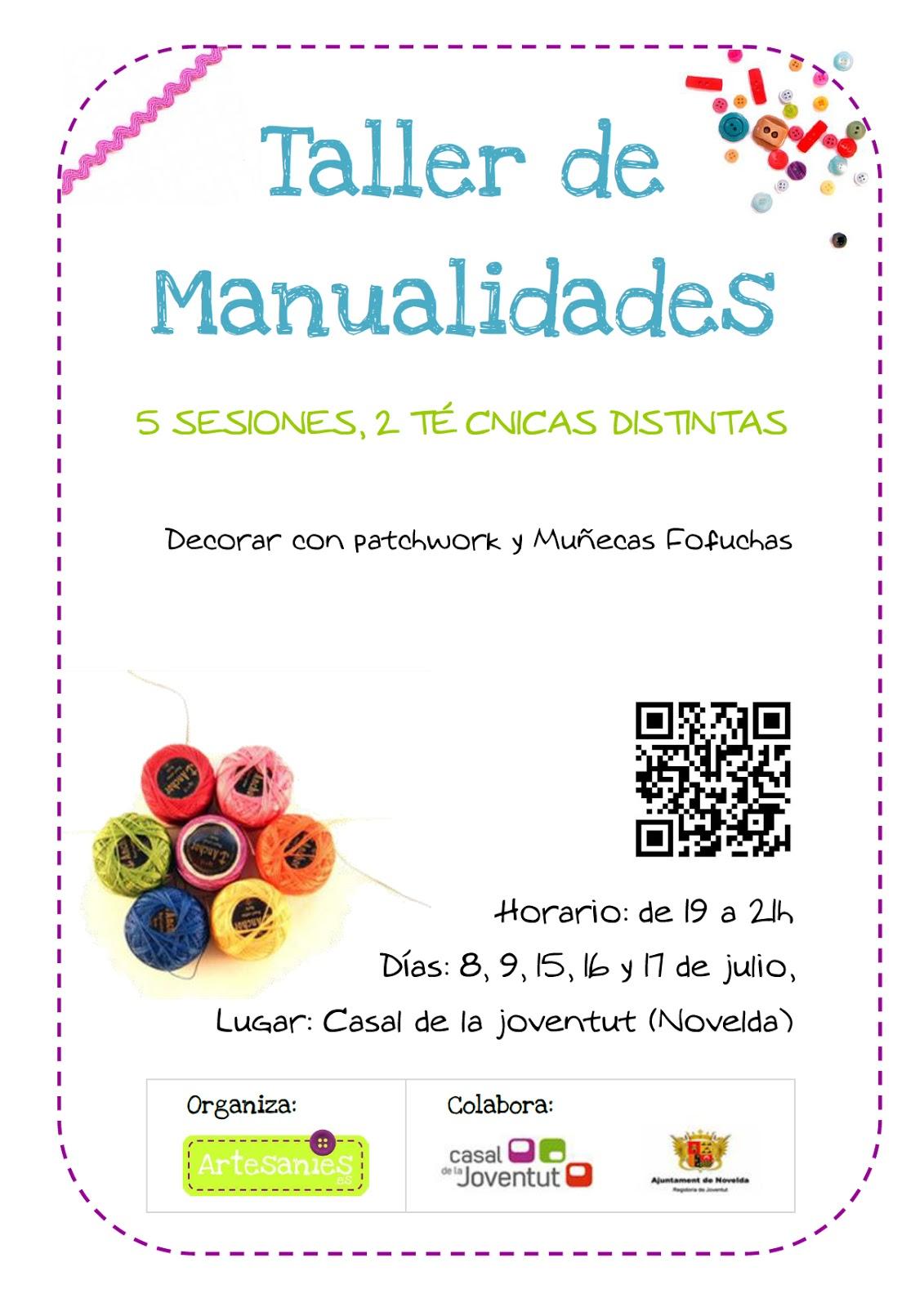 Taller de manualidades v 2 0 casal de la juventud - Talleres manualidades para adultos ...