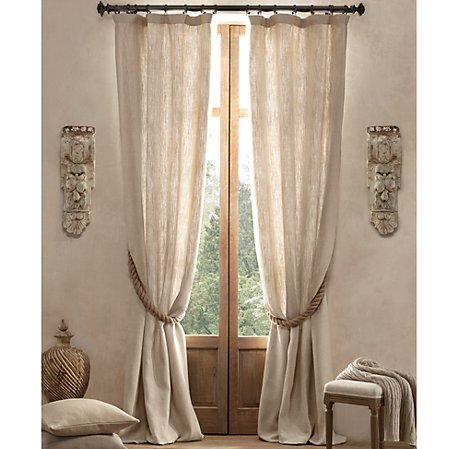 Image gallery linen window coverings for Restoration hardware window shades