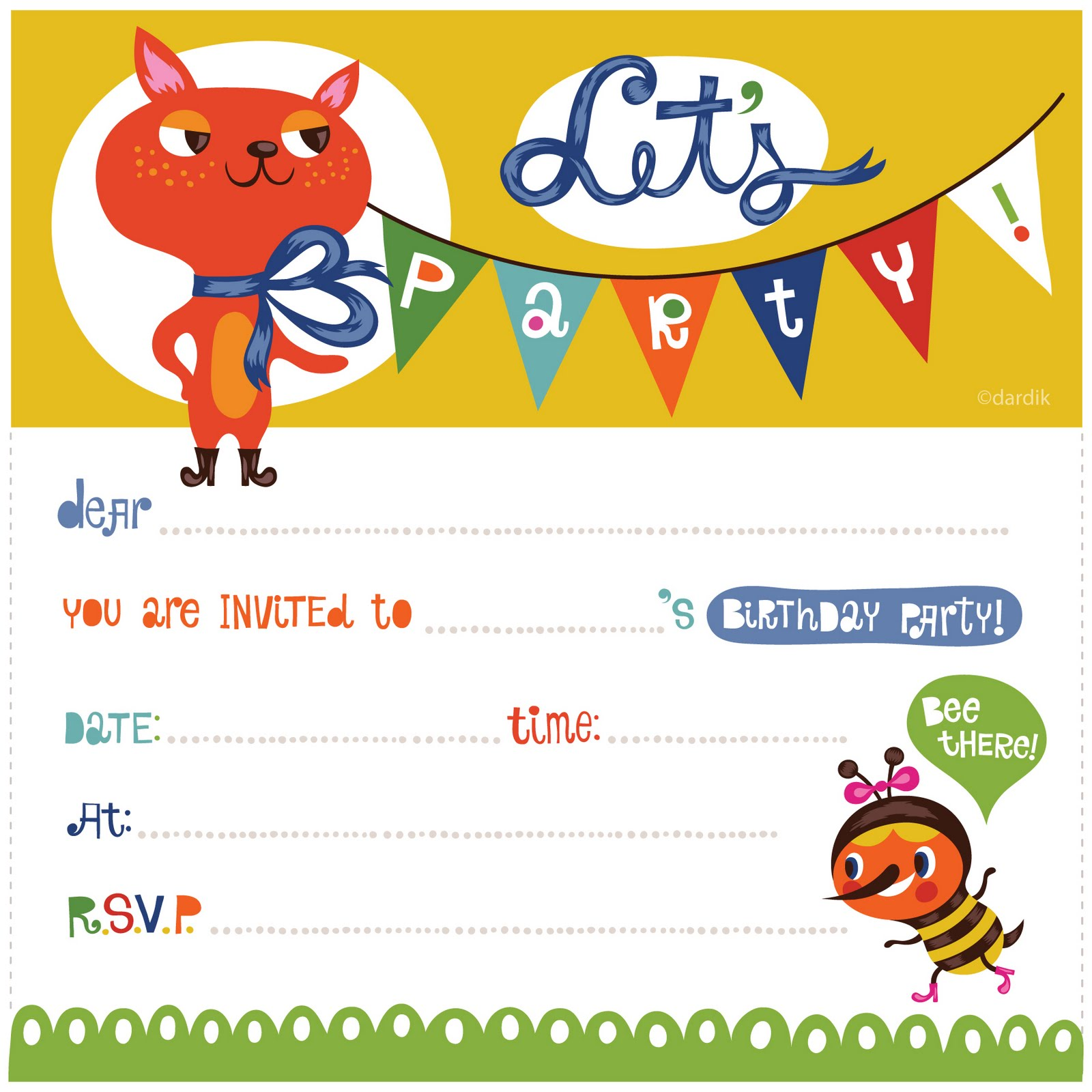 orange you lucky my printable birthday invitation – Free Kids Party Invitations to Print