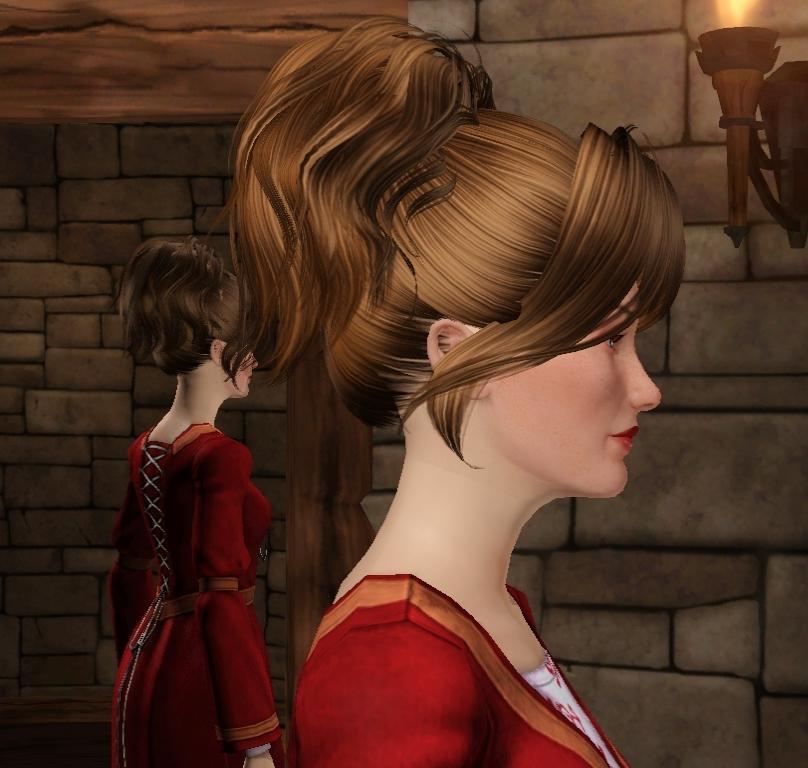Причёски для симс медивал