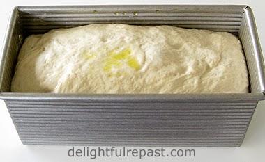 Sourdough Sandwich Bread in Pan / www.delightfulrepast.com