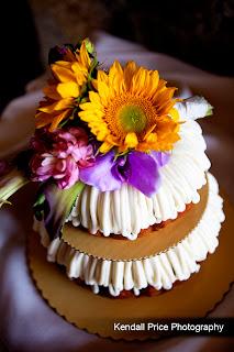 Nothing Bundt Cakes sunflower wedding cake