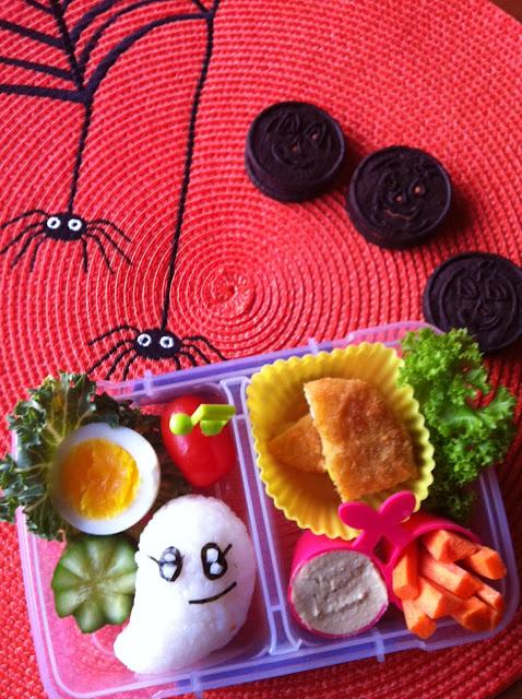 halloween Ghost Bento, ハロウィーン弁当、おばけ弁当