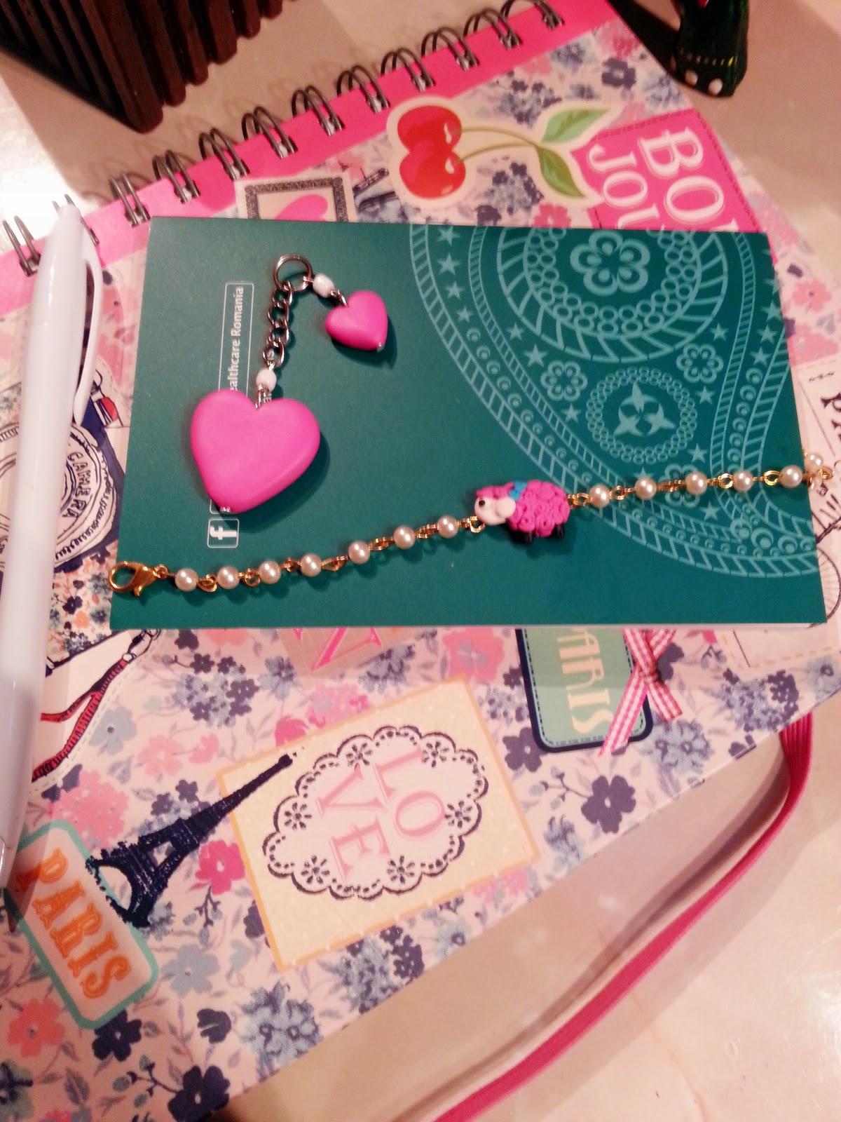 Breloc - pink Hearts