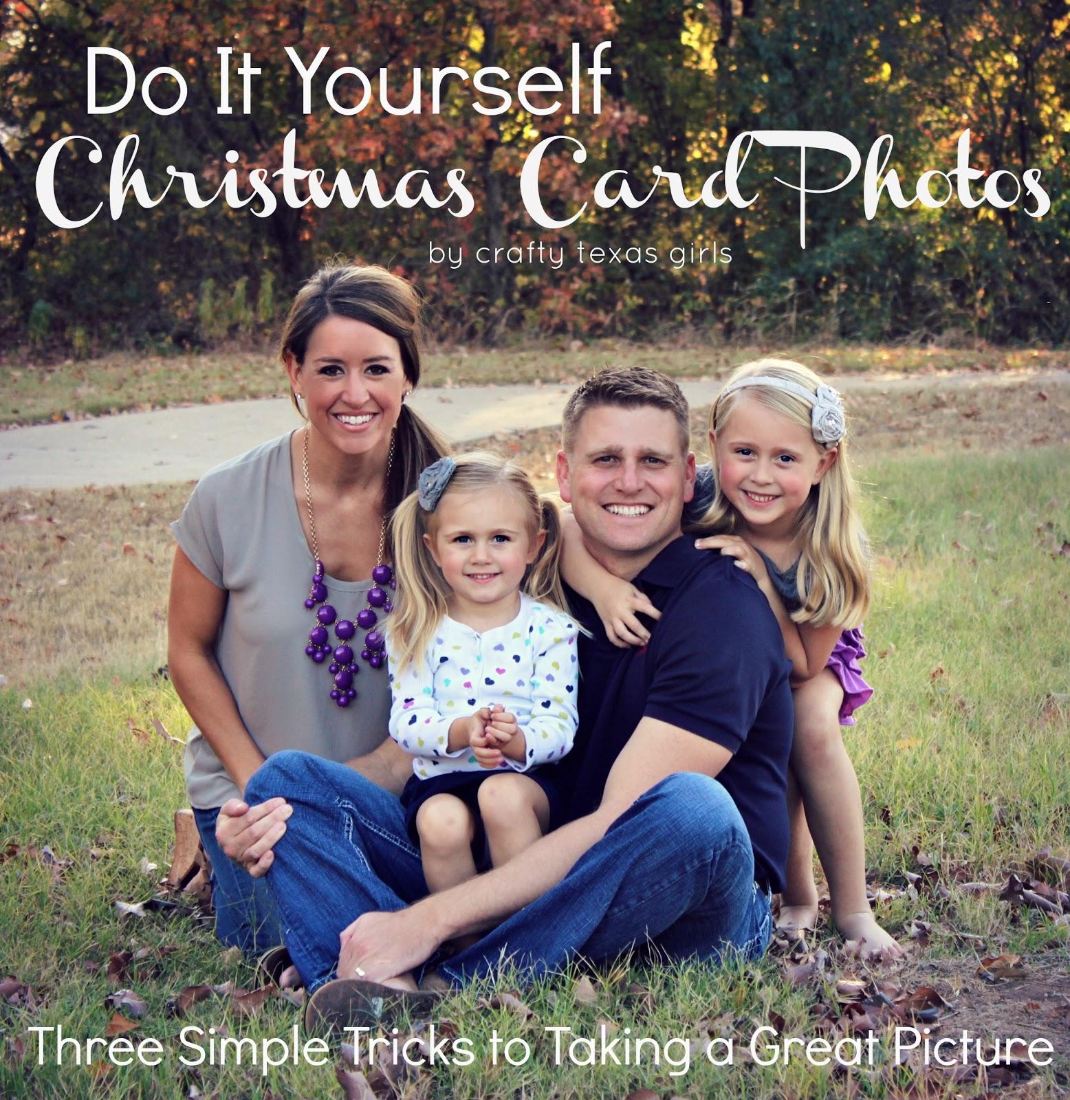 Crafty texas girls diy christmas card photos solutioingenieria Choice Image