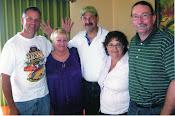 Kev, me, Len, Tricia & Dave