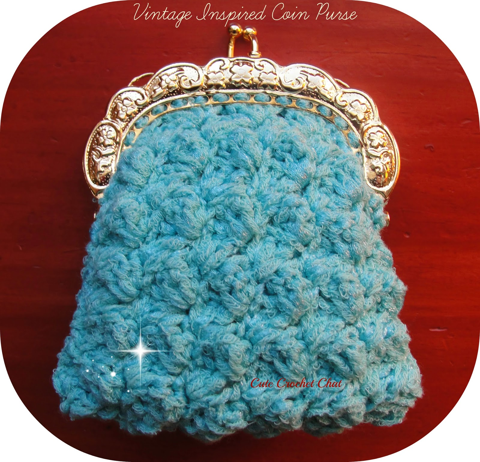 Crochet Coin Purse Pattern : Cute Crochet Chat: Vintage Inspired Coin Purse Free Crochet Pattern