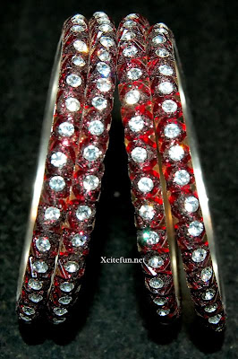 Beautiful Crystal Glass Stone Bangle Set Collection For Eid