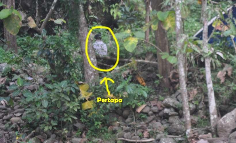 Foto Pertapa di Khayangan Kulonprogo