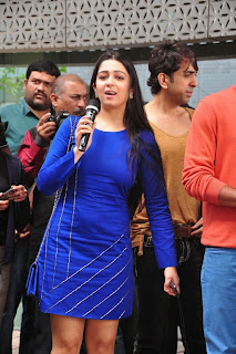 Actress Charmi Kaur Latest Pictures in Short Dress with R Rajkumar Movie Team at Yes Mart 0010