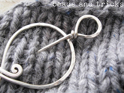 spilla da scialle (shawl pin) in argento sterling