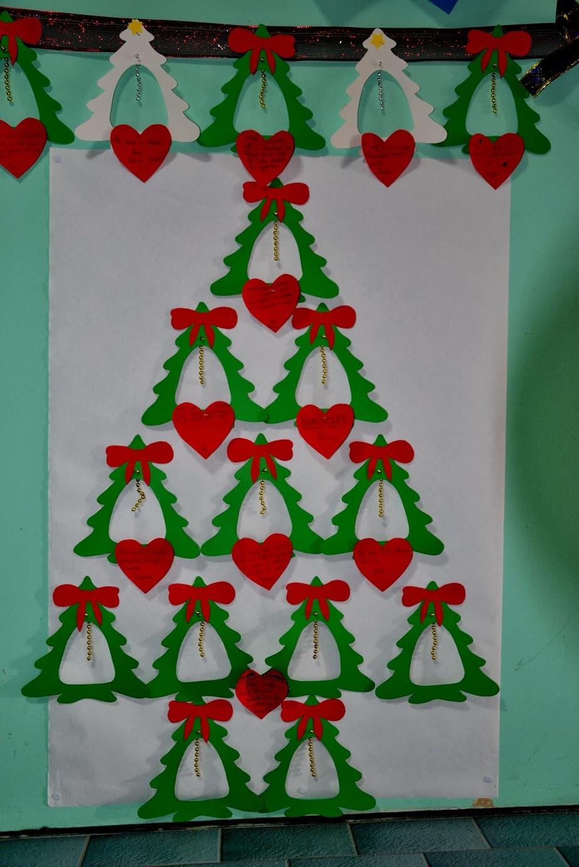 Il facile albero di natale da punteggiare for Addobbi scuola infanzia