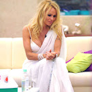 Pamela Anderson in a White Saree Spicy Pics