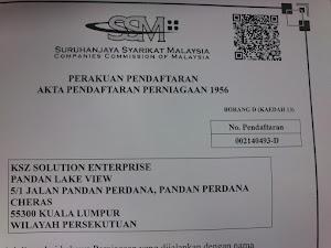 Perakuan Pendaftaran Sayarikat
