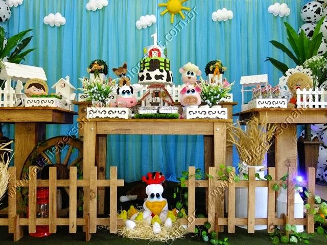 Decoração festa Fazendinha menino rustico