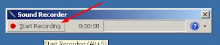 Memulai Rekaman dengan klik Start Recording