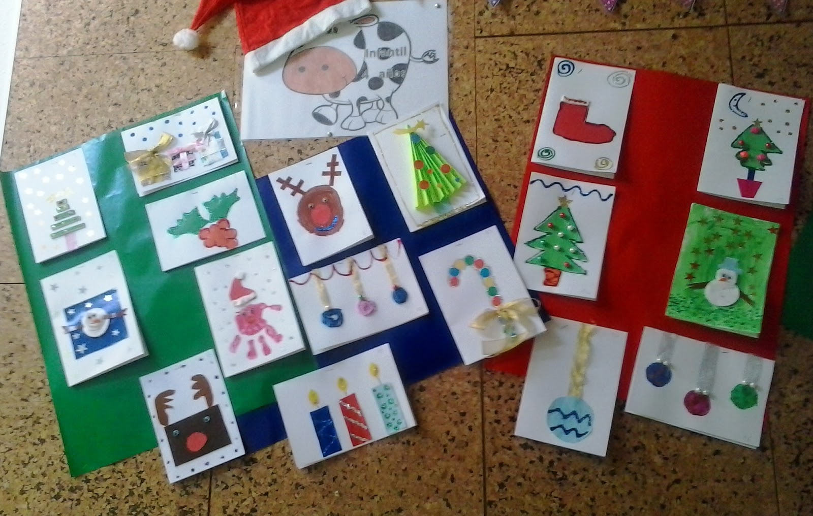 Helios infantil concurso de postales navide as ampa - Postal navidena infantil ...