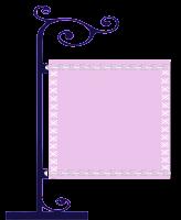 Plaquinha cute lilás x - Criação Blog PNG-Free